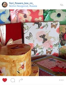 Цветы в коробках на заказ в Нижнем Новгороде
