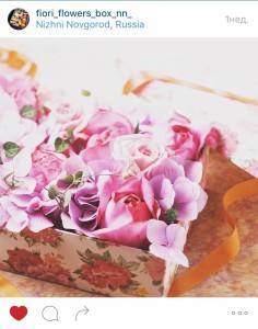 цветы в коробках со сладостями